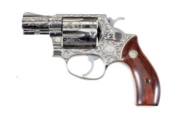Engraved Smith & Wesson Model 60 Double Action Revolver