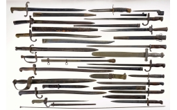 Large Grouping of Edged Weapons and One Ramrod