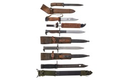 Five European Style Bayonets