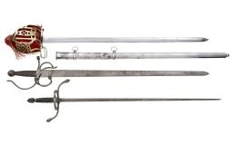 Three Assorted European Style Swords