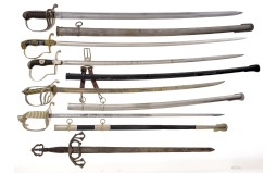 Group of Six Assorted European and American Style Swords
