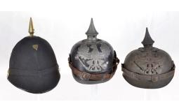 Three Military Style Helmets