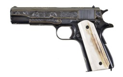 Engraved and Gold Inlaid Remington Rand 1911A1 Pistol