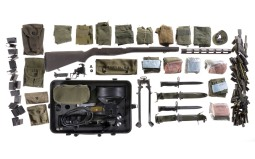Grouping of US Military Parts, Clips and Accessories