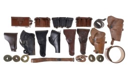Group of Assorted Holsters, Ammunition Pouches, and Slings