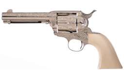 Engraved Colt Frontier Six Shooter Single Action Revolver