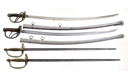 Four U.S. Military Style Swords