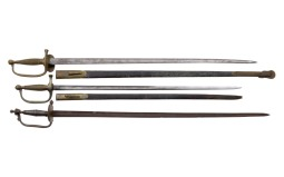 Three US Style Assorted Swords