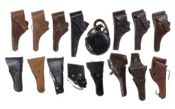 Assorted Holsters and One Canteen