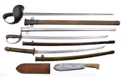 Four Military Style Edged Weapons