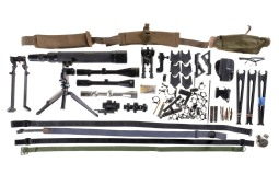 Grouping of Rifle Scopes, Bipods and Additional Accessories