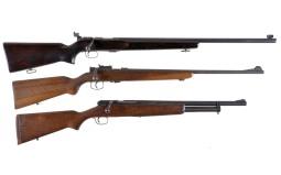 Three Bolt Action Long Guns