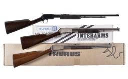 Three Slide Action Rifles