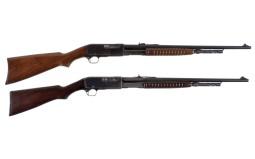 Two Remington Slide Action Rifles
