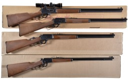 Four Marlin Lever Action Rifles