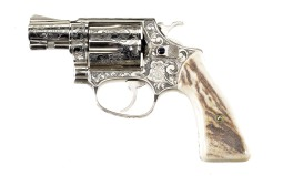 Engraved Smith & Wesson Model 36 Double Action Revolver