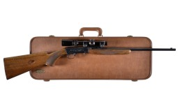 Belgian Browning .22 Semi-Automatic Rifle with Case