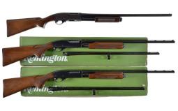 Three Remington Slide Action Shotguns
