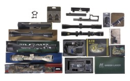 Group of Scopes and Scope Accessories