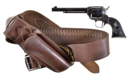 Colt Peacemaker Single Action Revolver with Holster Rig