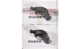 Two Ruger LCR Double-Action Revolvers with Boxes