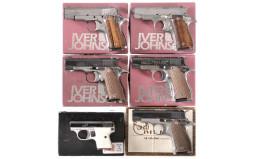 Six Semi-Automatic Pistols -A) Iver Johnson Pony Pistol with Box