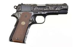 Engraved Colt Commander Semi-Automatic Pistol