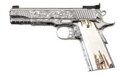 Engraved Kimber Classic Stainless Target Semi-Automatic Pistol