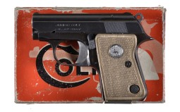 Colt Junior Pocket Semi-Automatic Pistol with Matching Box