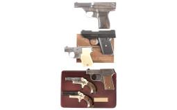 Six Handguns -A) Davis Warner Arms Corp. Infallible Pistol