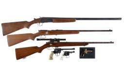 Three Long Guns and Three Hand Guns