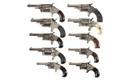 Ten Spur Trigger Revolvers -A) Hopkins & Allen XL No. 3 Revolver
