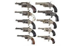 Ten Spur Trigger Revolvers -A) Bulldozer No. 3 Marked Revolver
