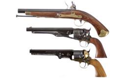 Three Handguns -A) Spanish Flintlock Pistol