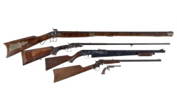 Three Long Rifles, One Air Rifle, and One Pistol.