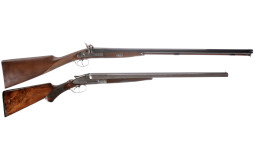 Two Double Barrel Shotguns