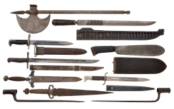 Ten Assorted Edged Weapons