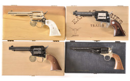 Four Cased Colt Commemorative Single Action Handguns