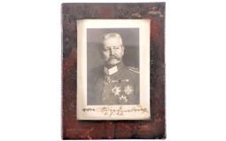 Framed and Signed Photograph of Hindenburg