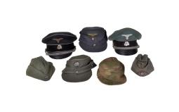 Seven Reproduction Nazi-Style Hats