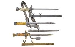 Three German Military Style Daggers