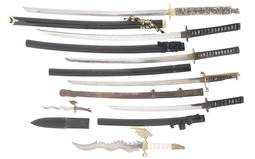 Group of Seven Japanese-Style Edged Weapons