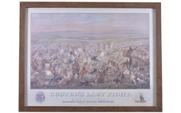 Framed Print of Custers Last Stand by Anheuser-Busch Brewing Com