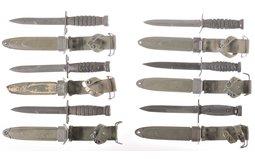 Six U.S. Bayonets with Scabbards