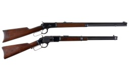 Two Antique Winchester Lever Action Long Guns