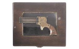 W.W. Marston Three-Barrel Derringer Pistol with Wood Case