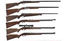 Three Shotguns and Three Rifles