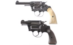 Engraved Colt Police Positive Double Action Revolver
