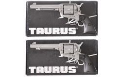 Two Consecutively Serial Numbered Taurus Revolvers