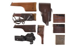 Group of Assorted Firearm Holster/Stocks and Accessories